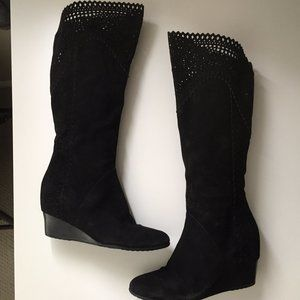 Sofft Suede Wedge Boots
